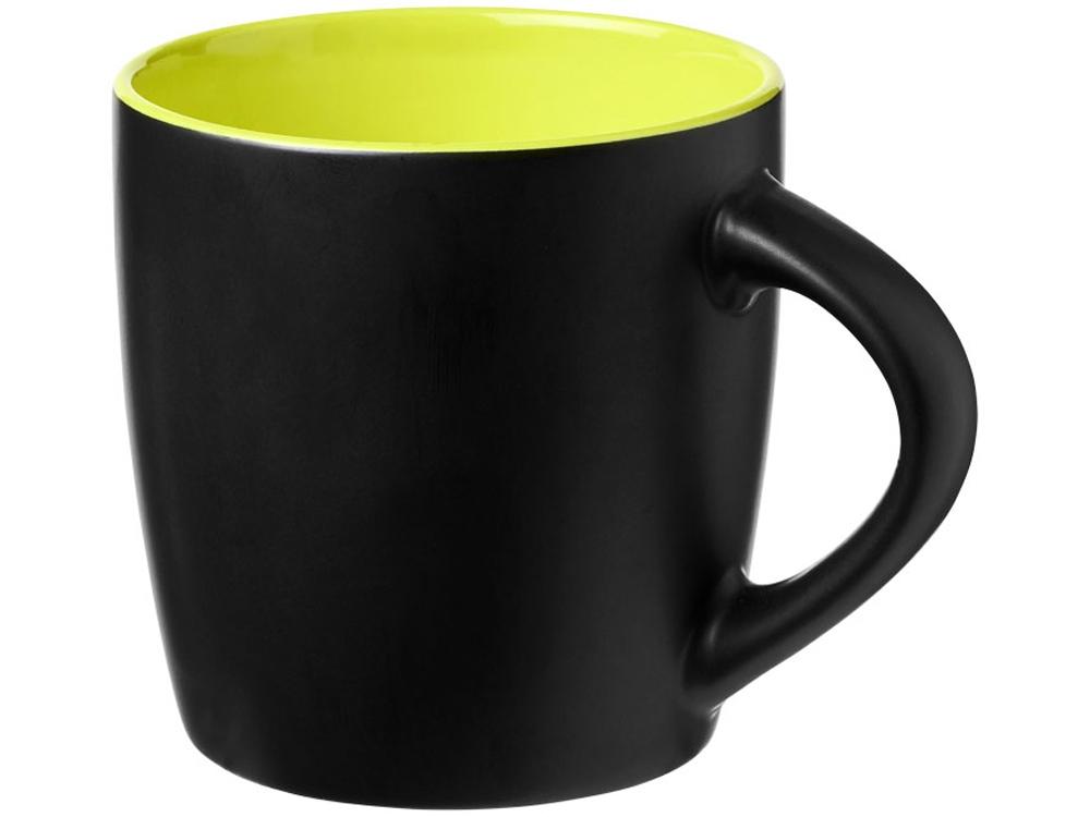 Керамическая чашка Riviera, черный/лайм