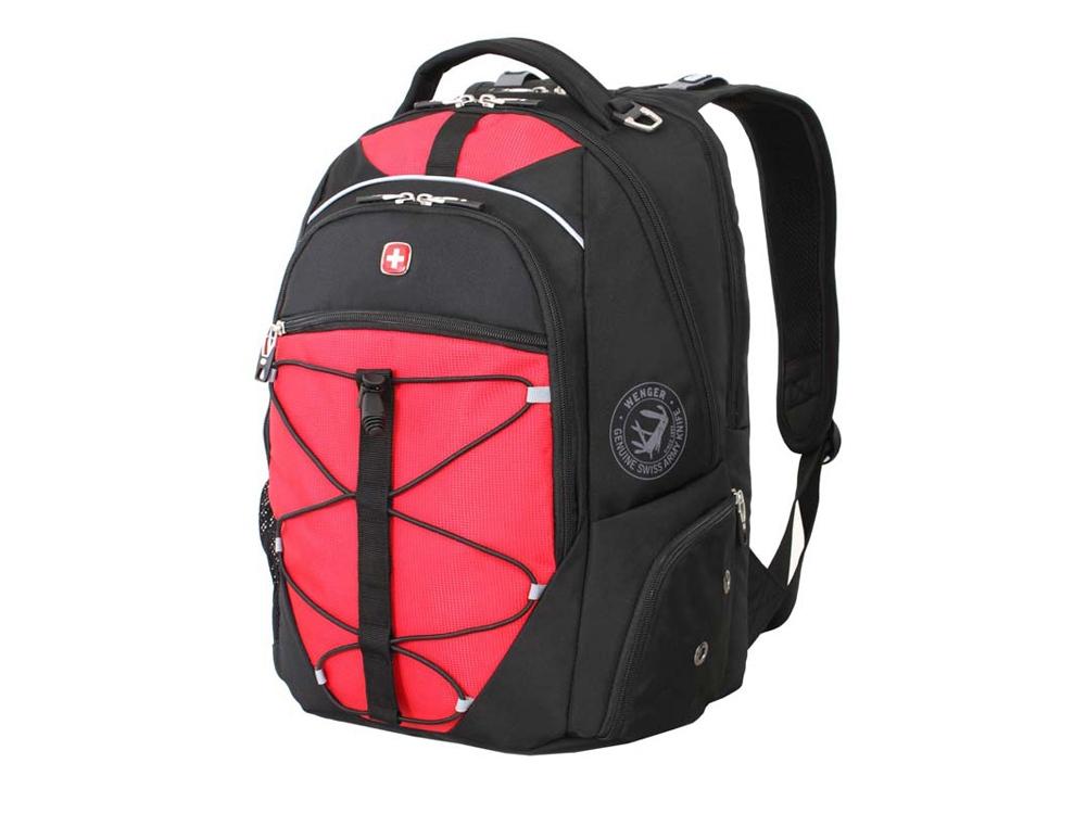 Рюкзак 30л с отделением для ноутбука 15''. Wenger, черный/красный