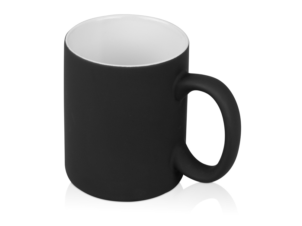 Кружка с покрытием soft-touch Barrel of a Gum, черный