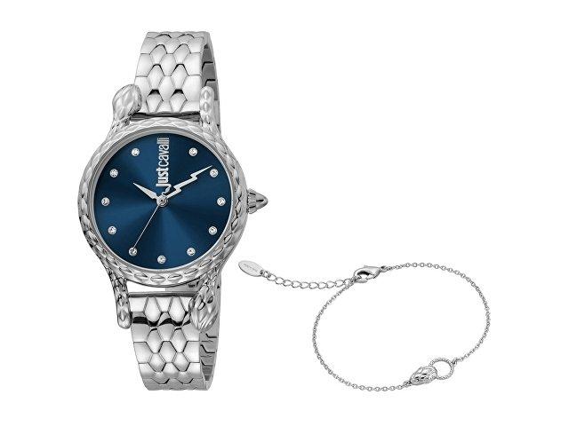 Подарочный набор: часы наручные женские, браслет (арт. 60019)