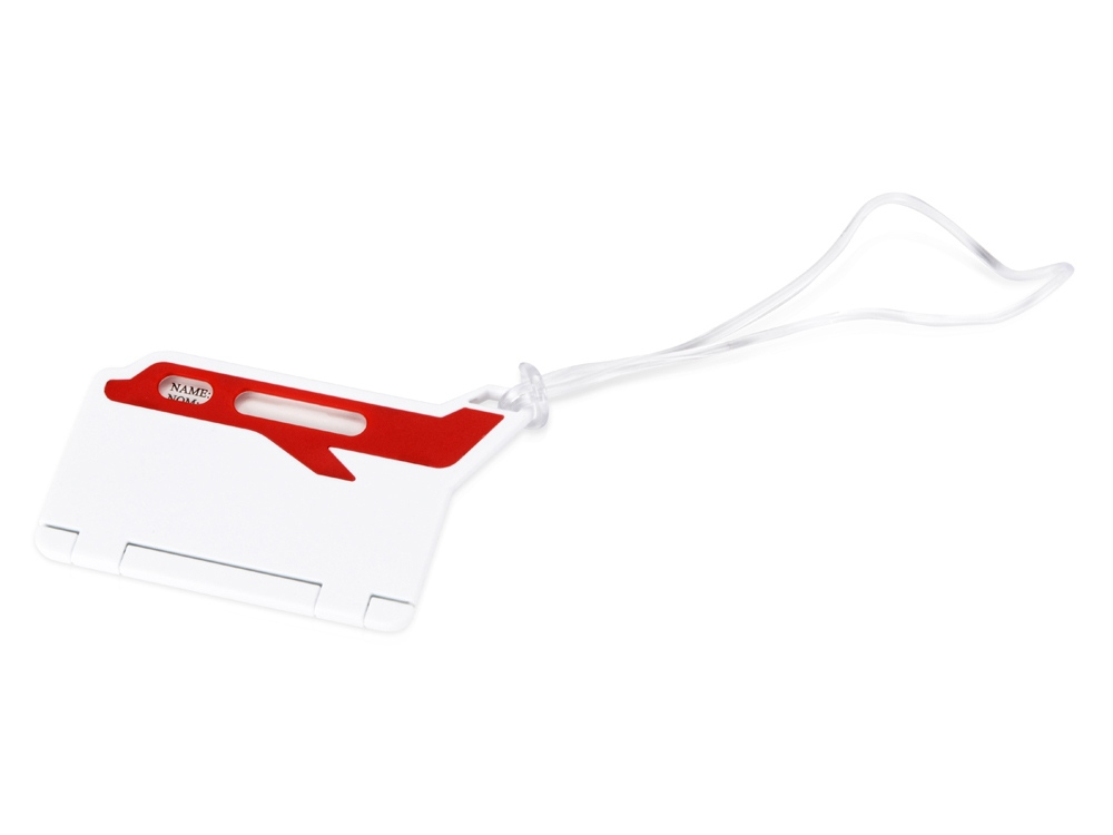 Бирка для багажа Hop, белый/красный