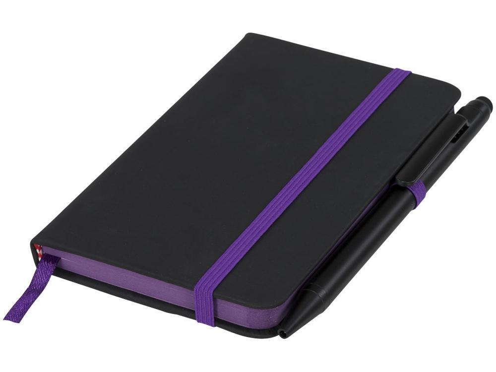 Маленький блокнот Noir Edge, черный/пурпурный