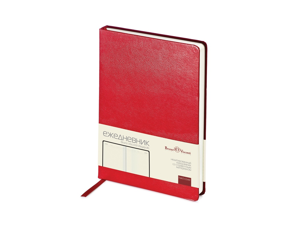 Ежедневник недатированный А5 Megapolis, красный