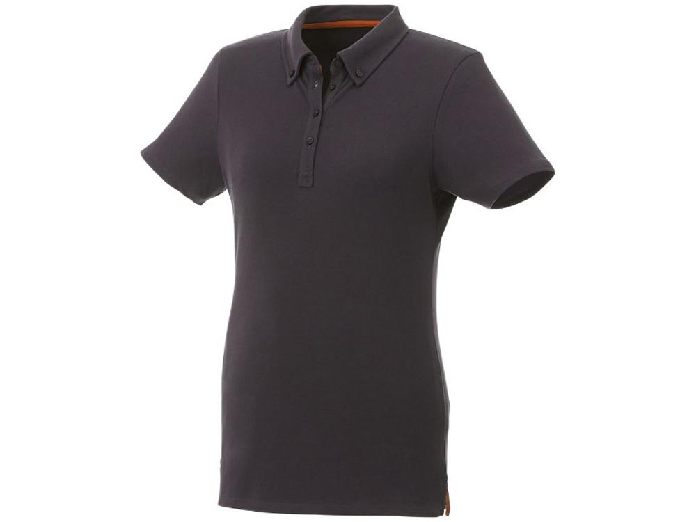Женская футболка поло Atkinson с коротким рукавом и пуговицами, серый графитовый