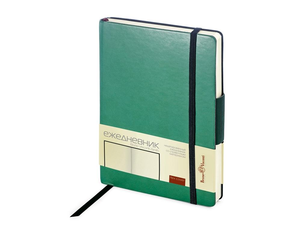 Ежедневник А5 недатированный Zenith, темно-зеленый