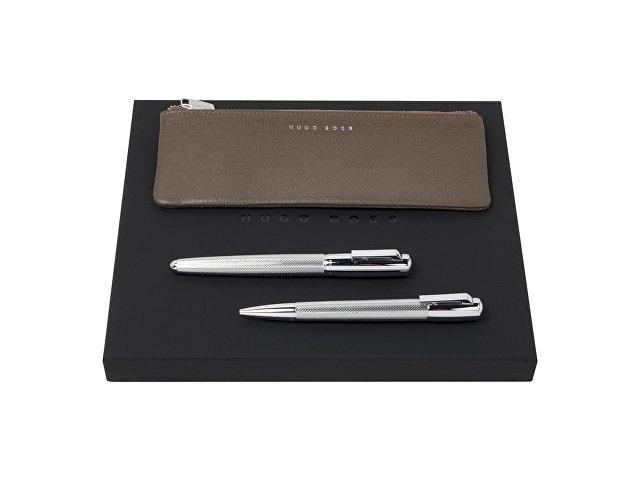 Подарочный набор: пенал, ручка шариковая, ручка-роллер
