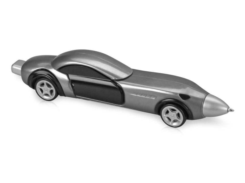 Ручка шариковая Сан-Марино в форме автомобиля с открывающимися дверями и инерционным механизмом движения, серебристая