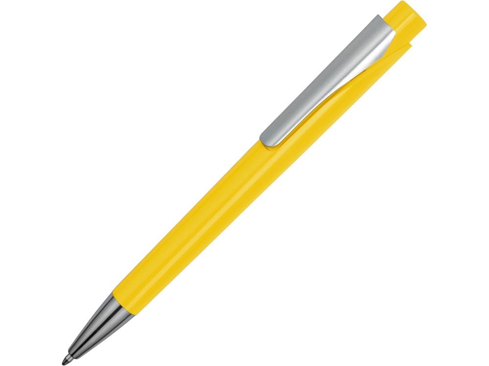 Ручка шариковая Pavo синие чернила, желтый