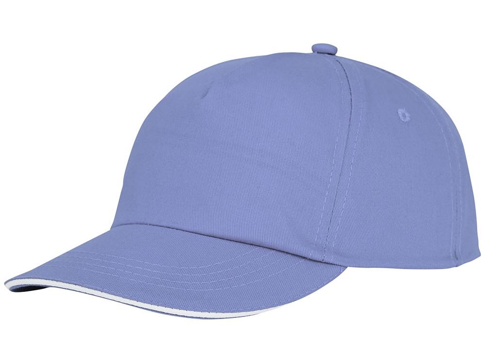 Пятипанельная кепка-сендвич Styx, светло-синий