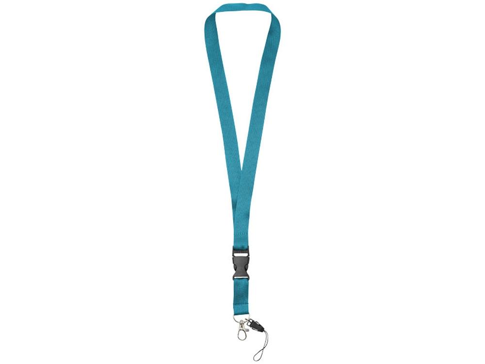 Шнурок Sagan с отстегивающейся пряжкой, держатель для телефона, голубой