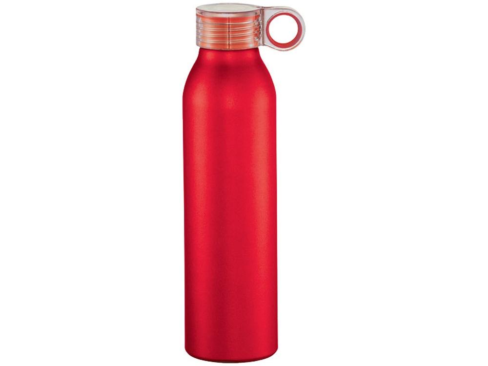 Спортивная алюминиевая бутылка Grom, красный