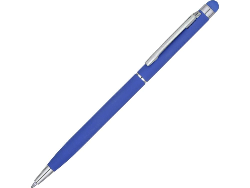 Ручка-стилус шариковая Jucy Soft с покрытием soft touch, синий