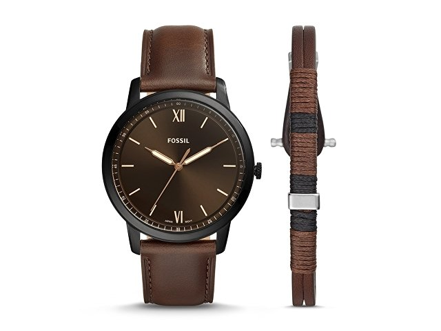 Подарочный набор: часы наручные мужские, браслет (арт. 29668)