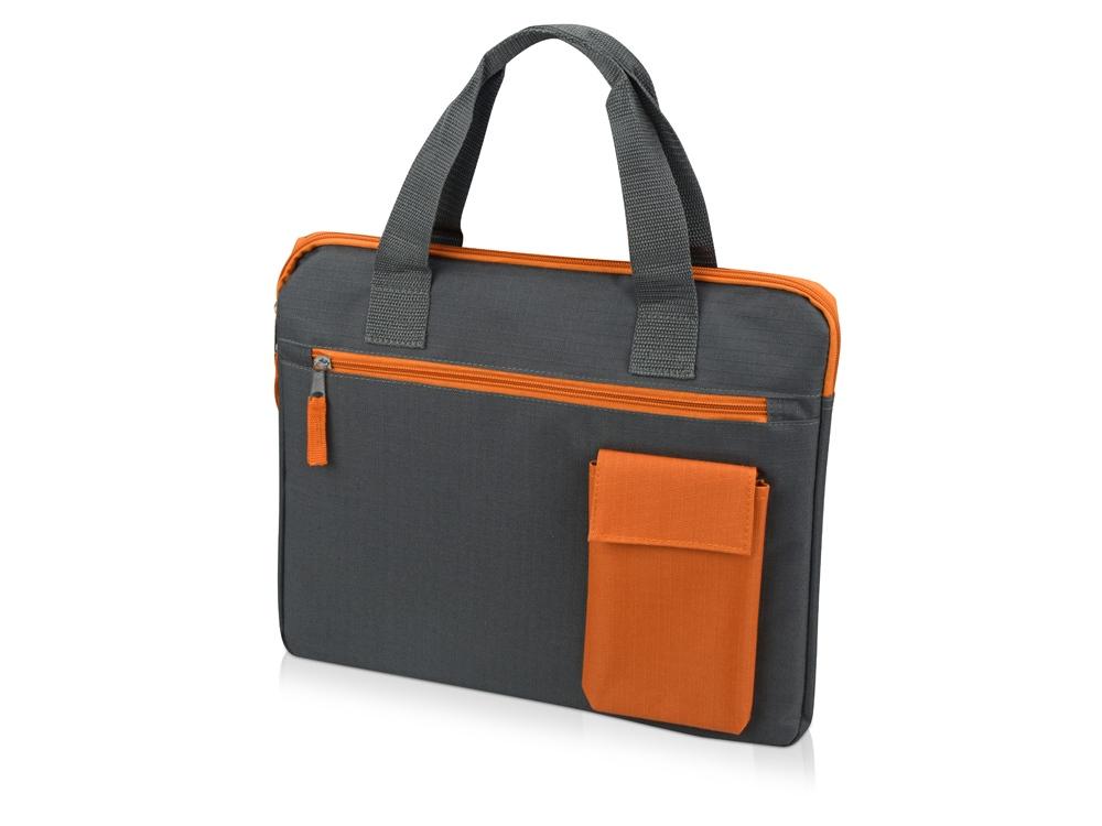 Конференц сумка Session, серый/оранжевый