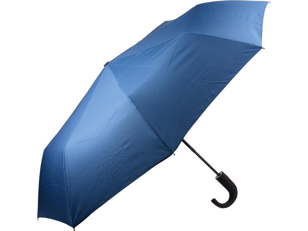 Складной зонт полуавтоматический, синий