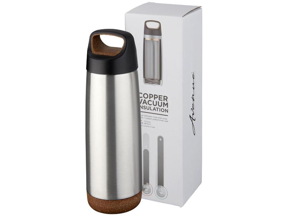 Спортивная медная бутылка с вакуумной изоляцией Valhalla объемом 600мл, серебристый