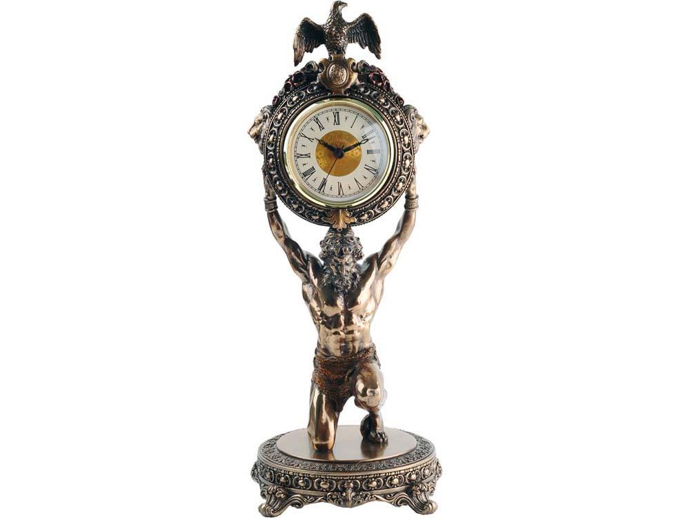 Интерьерные часы Мировое время, бронзовый