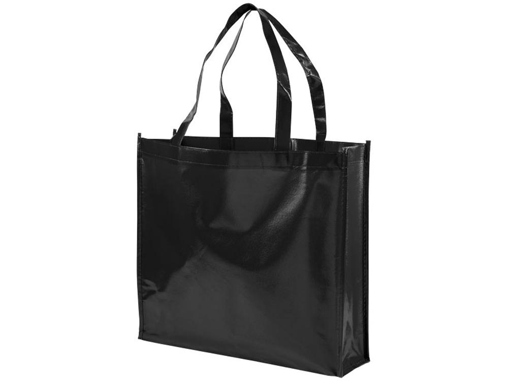 Блестящая ламинированная нетканая сумка-тоут для покупок