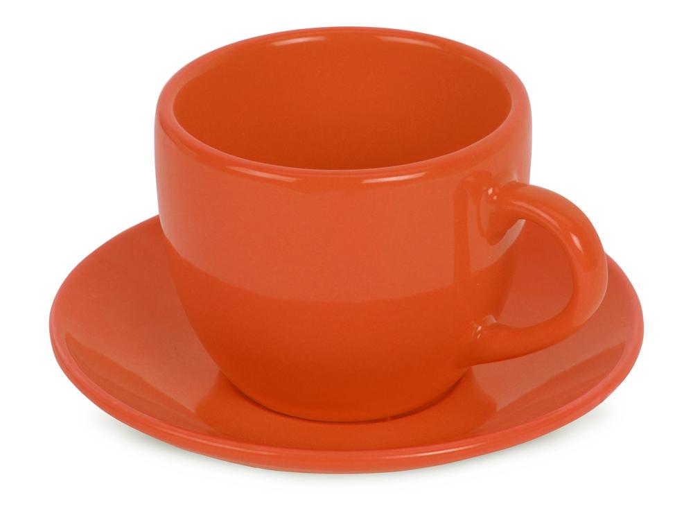 Чайная пара Melissa керамическая, оранжевый