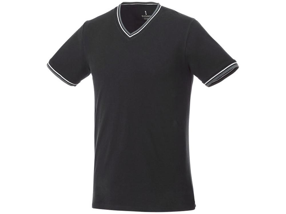 Мужская футболка Elbert с коротким рукавом, черный/серый меланж/белый