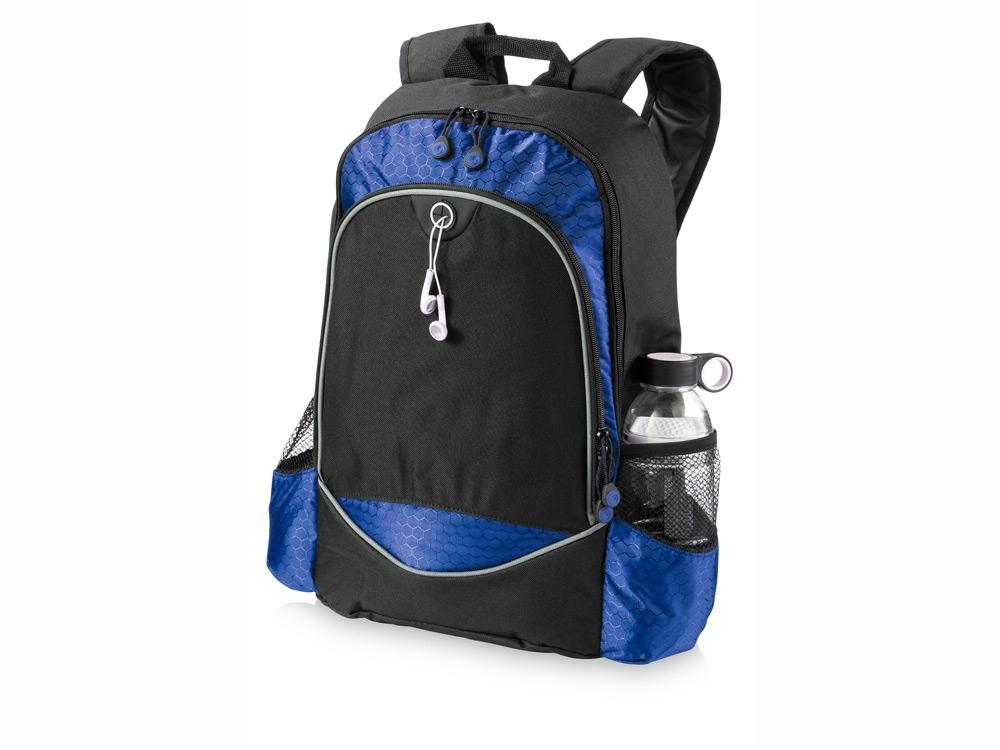 Рюкзак Benton для ноутбука 15, черный/ярко-синий