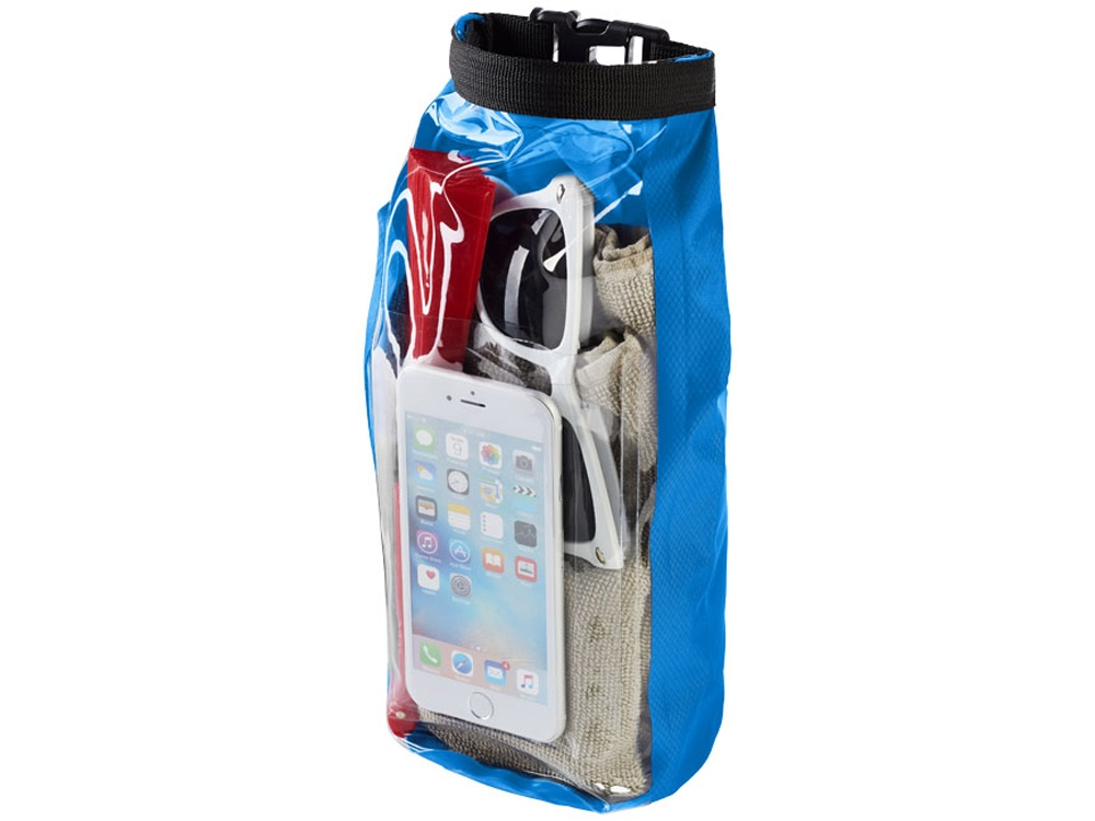 Туристическая водонепроницаемая сумка объемом 2 л, чехол для телефона, голубой