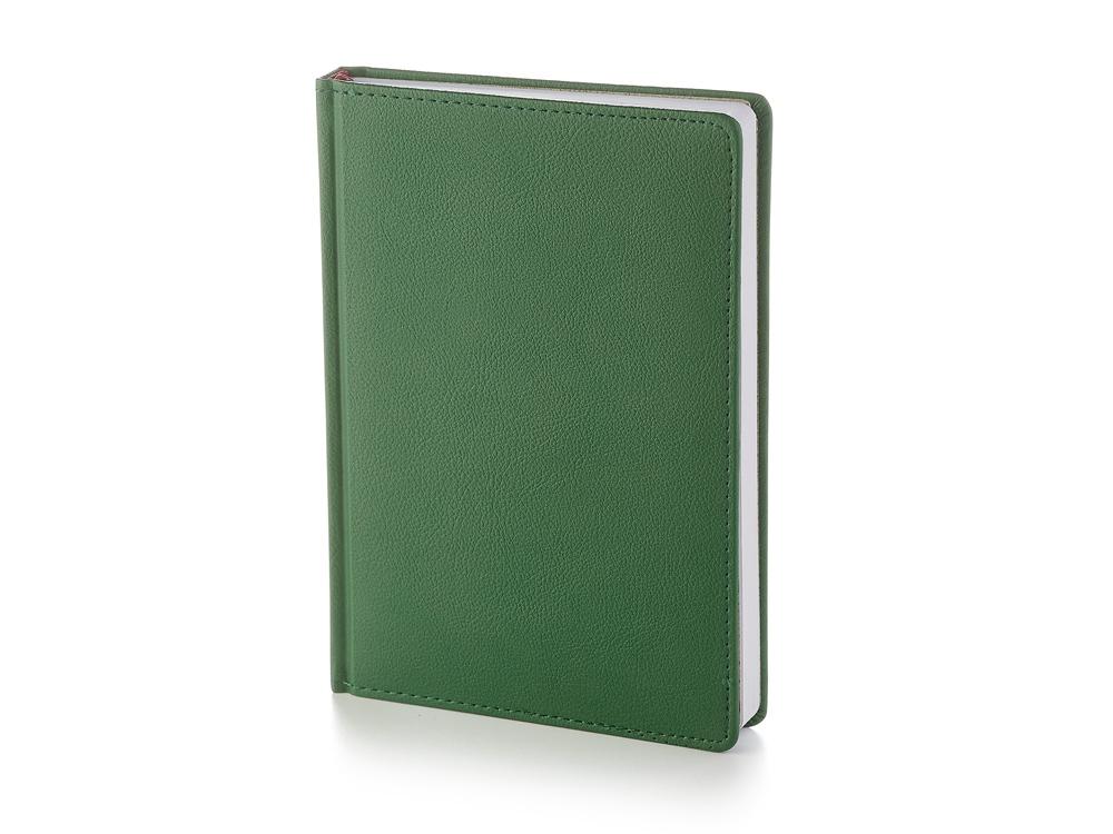 Ежедневник А5 датированный Leader 2020, зеленый