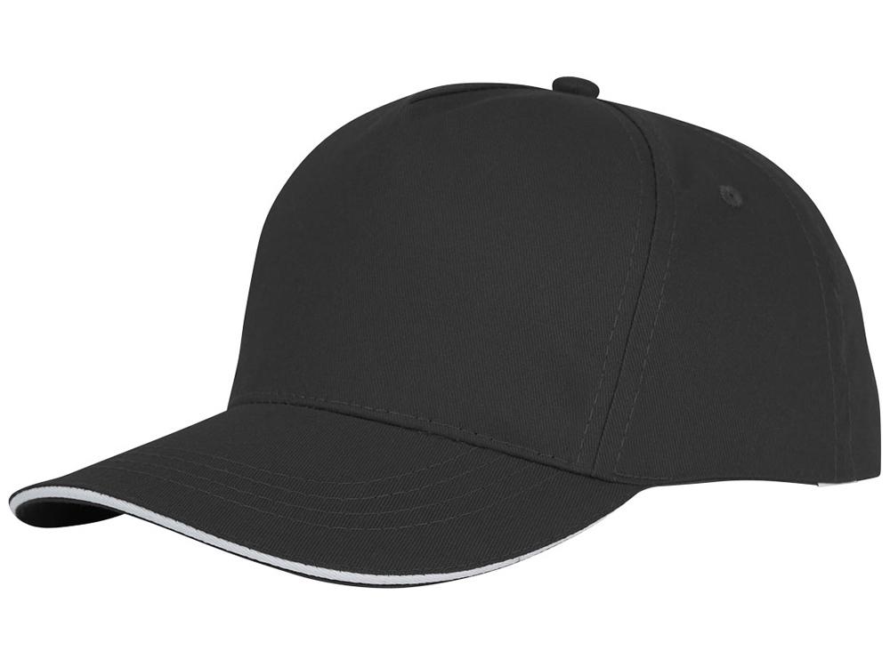 Пятипанельная кепка-сендвич Ceto, черный