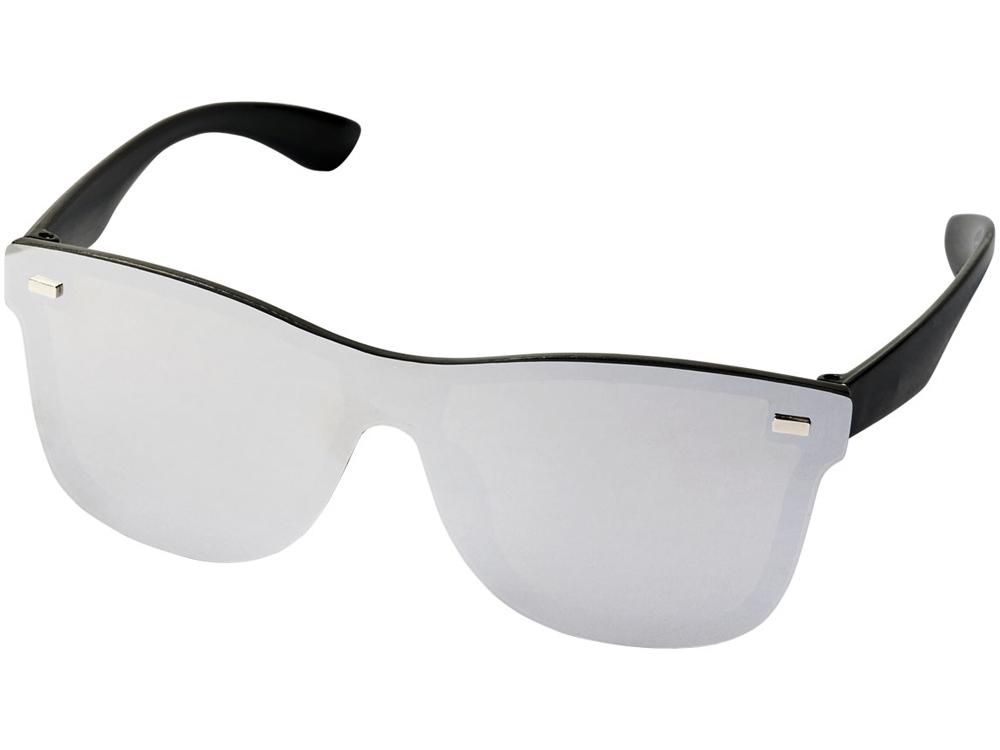Солнцезащитные очки Shield с полностью зеркальными линзами, серебристый