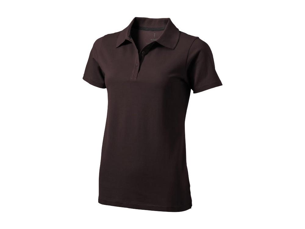 Рубашка поло Seller женская, шоколадный коричневый