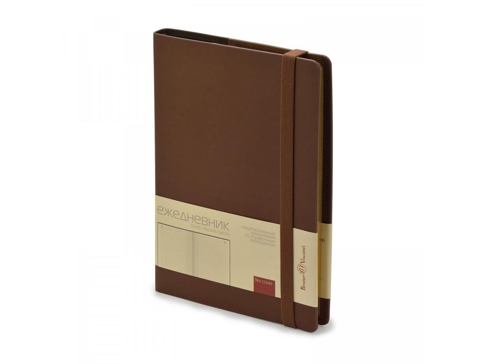 Ежедневник недатированный А5  Oxford, коричневый