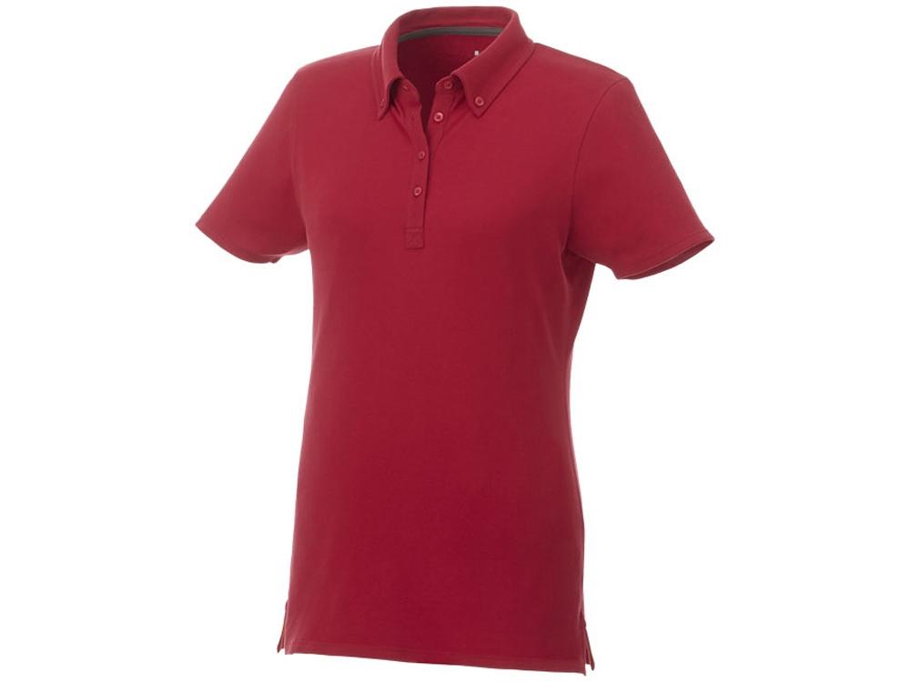 Женская футболка поло Atkinson с коротким рукавом и пуговицами, красный