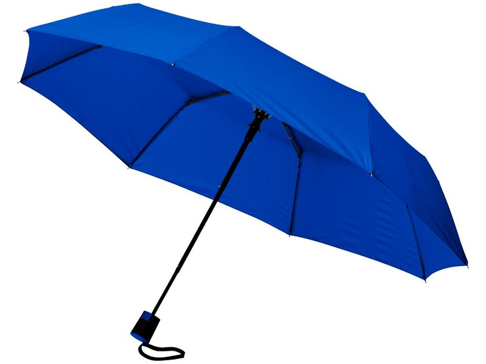 Зонт Wali полуавтомат 21, ярко-синий