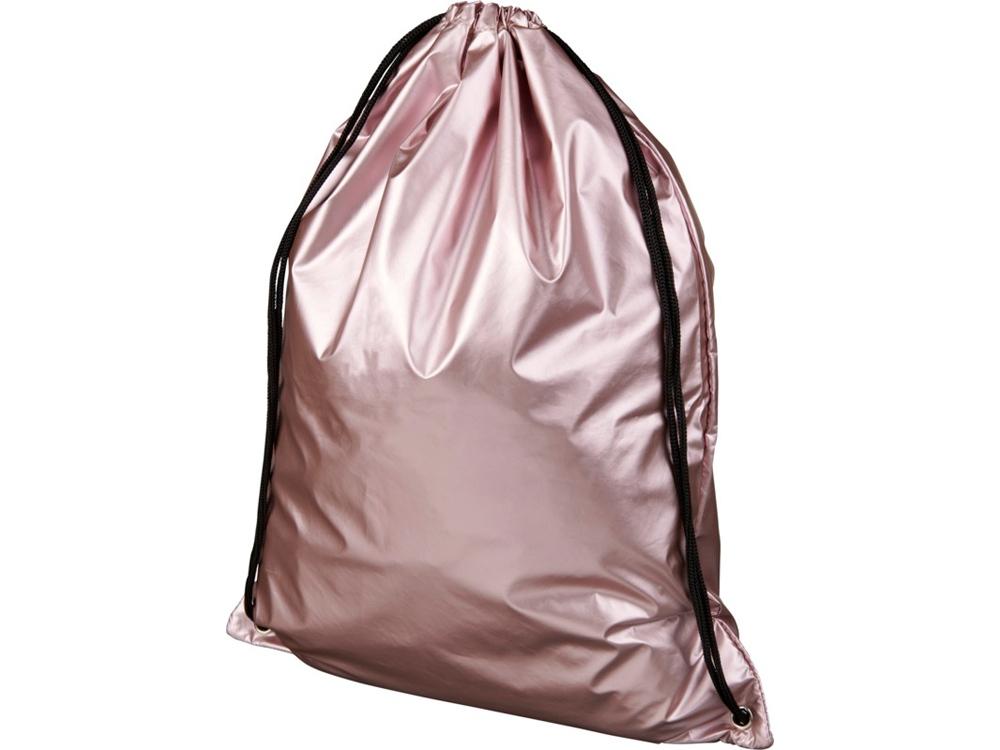 Блестящий рюкзак со шнурком Oriole, розовый