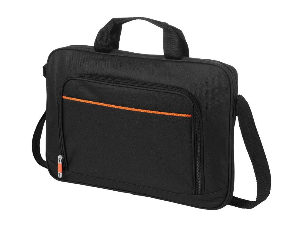 Сумка Harlem для ноутбука 14, черный/оранжевый