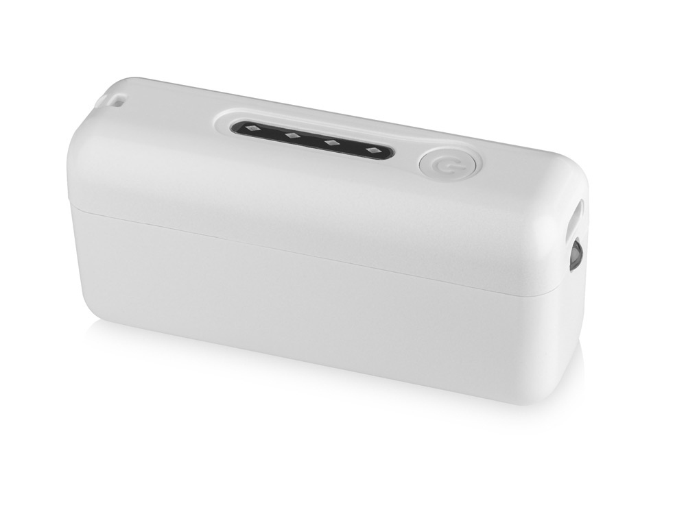 Портативное зарядное устройство Bellino с фонариком, белый