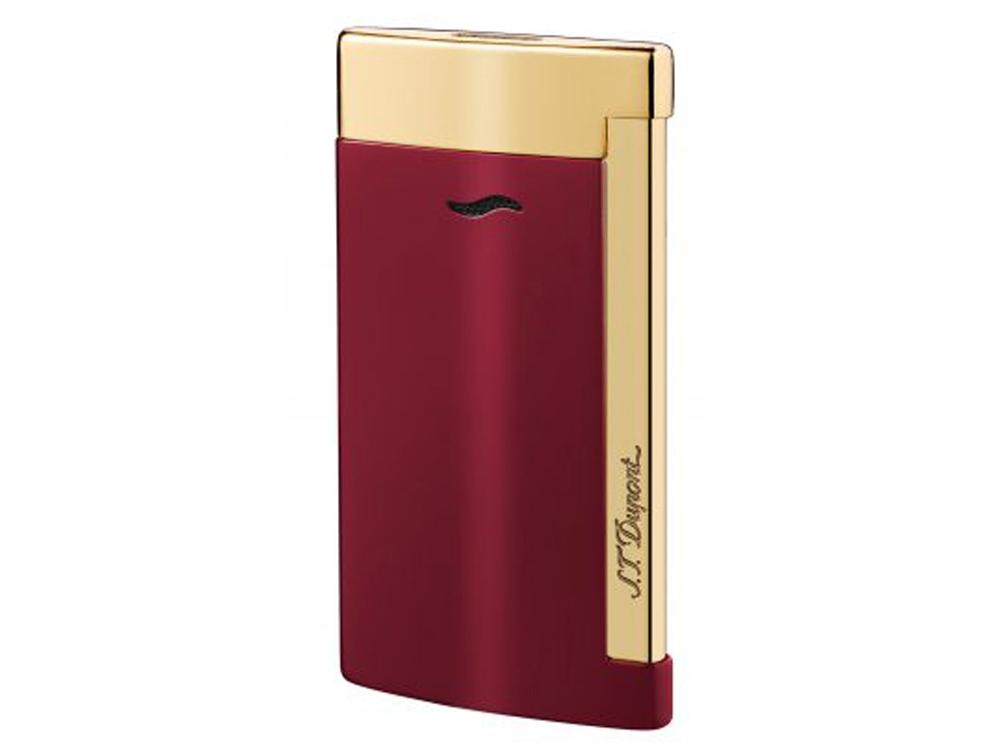 Зажигалка Slim 7. S.T. Dupont, красный/золотистый