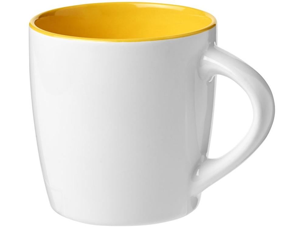 Керамическая чашка Aztec, белый/желтый