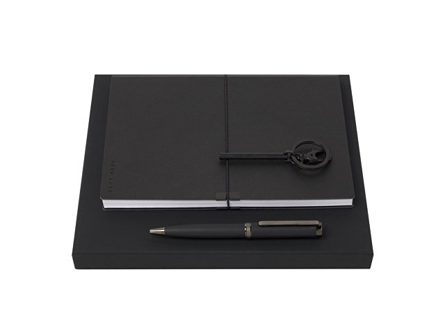 Подарочный набор: брелок, блокнот А5, ручка шариковая