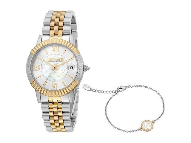 Подарочный набор: часы наручные женские, браслет (арт. 60022)
