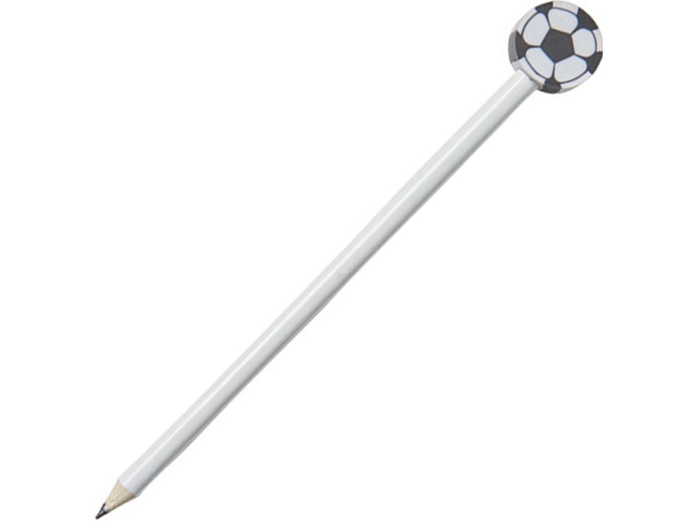 Карандаш Футбольный мяч, белый
