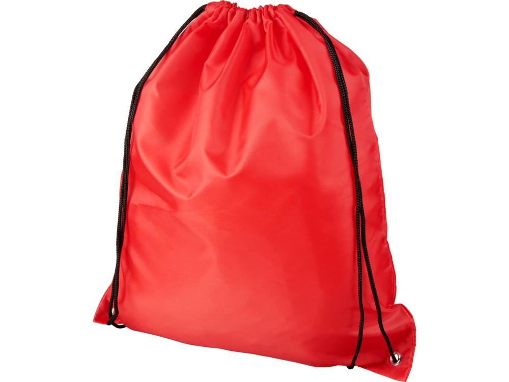 Рюкзак со шнурком Oriole из переработанного ПЭТ, красный