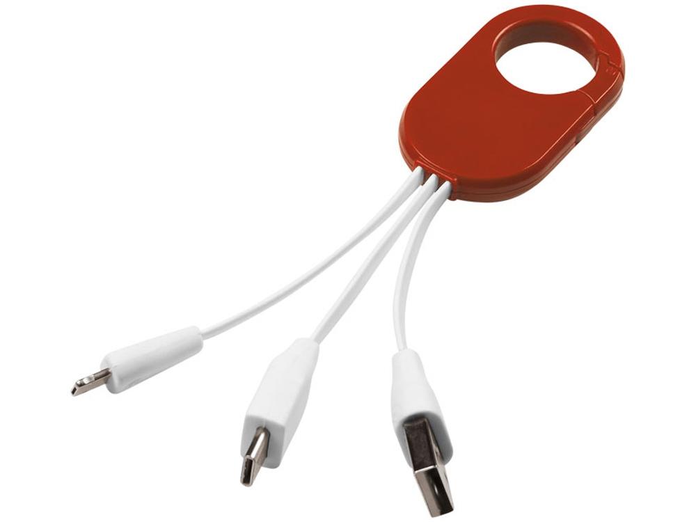 Кабель для зарядки 3-в-1, красный