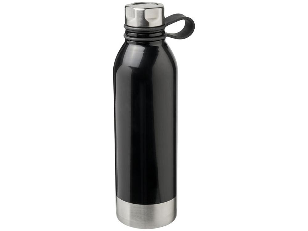 Спортивная бутылка из нержавеющей стали Perth объемом 740мл, черный