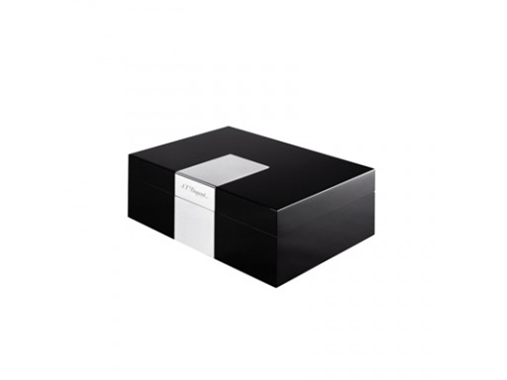 Коробка для сигар Ligne2. S.T.Dupont, черный/серебристый