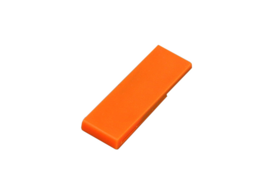 Флешка промо в виде скрепки, 64 Гб, оранжевый
