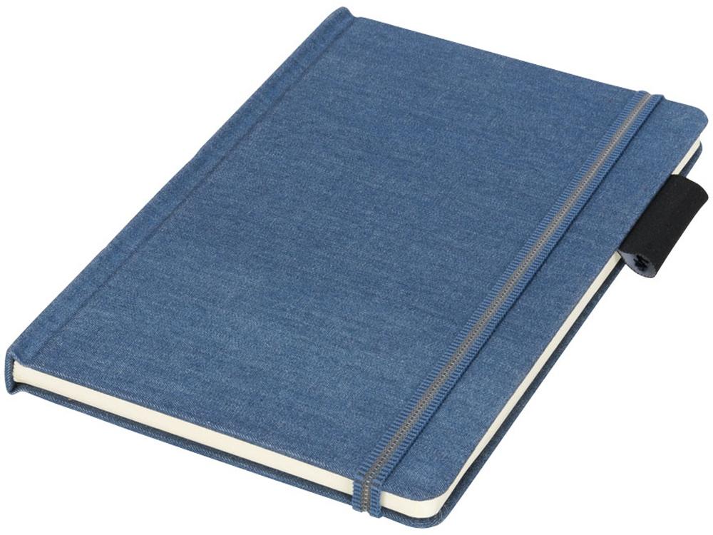 Блокнот Jeans формата A5 из ткани, светло-синий