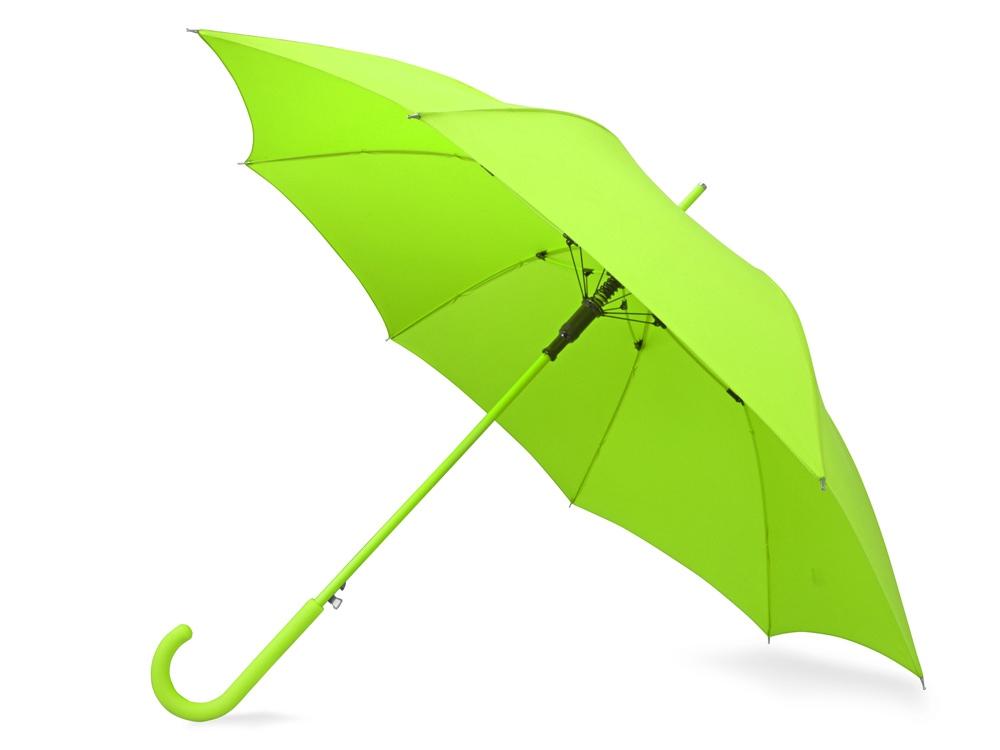 Зонт-трость Color полуавтомат, зеленое яблоко