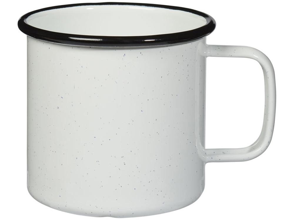 Кружка эмалированная Emal, белый с черным вкраплением