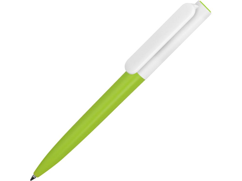 Ручка пластиковая шариковая Umbo BiColor, зеленое яблоко/белый